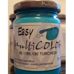 Easy multicolor turchese